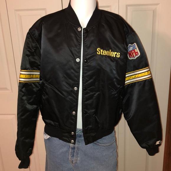 info for c1def 18011 Vintage Starter Pittsburgh Steelers Bomber Jacket